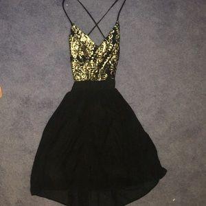 Sequin top formal dress